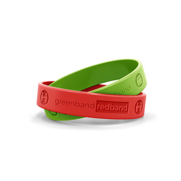 Green & red band 2-pack